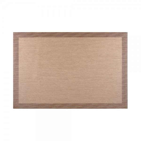 Alfombra living style beige-choco 60x90cm cintacor